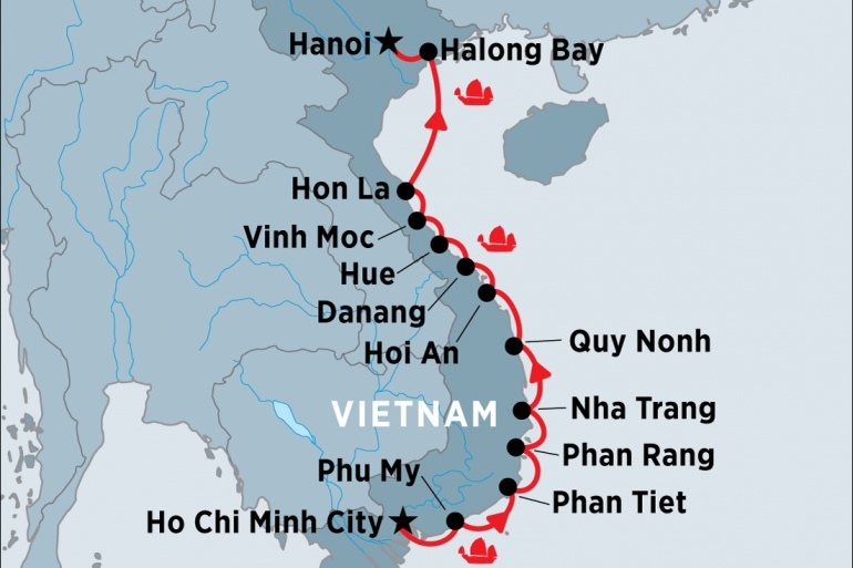 Cultural Culture Cruising the Coast of Vietnam - South to North package