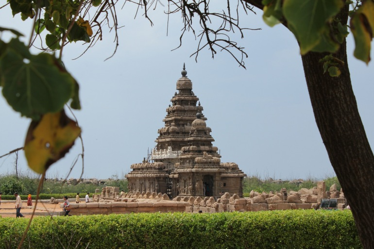 Old Temple View of Mahabalipuram, India