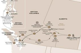 Majesty of the Rockies with Stampede and Alaska Cruise Ocean View Stateroom GoldLeaf (Summer 2018) tour
