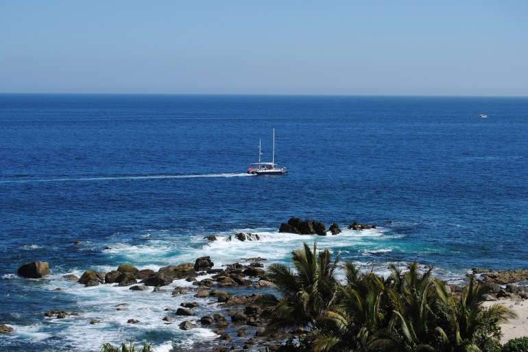 Blue Ocean View of Cabo San Lucas, Mexico