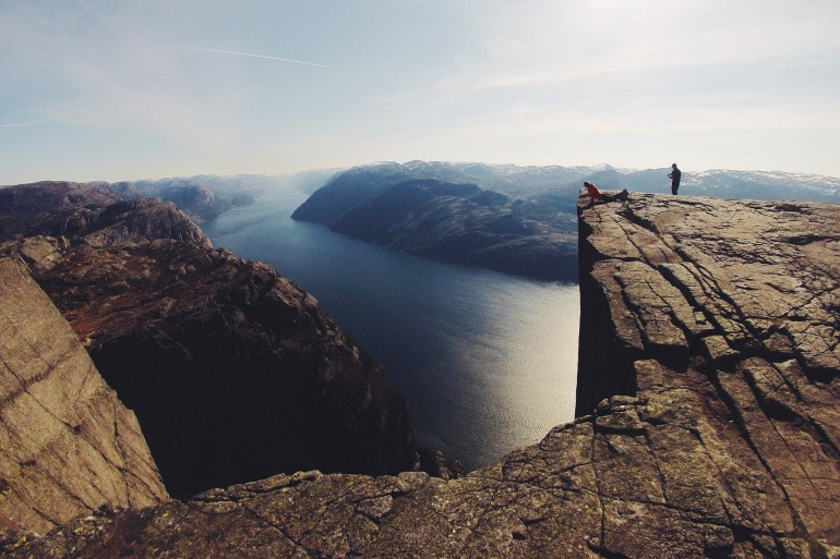 Cliffs view of Norway, Europe_P