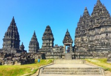 Exploring Prambanan Temple on a tour of Indonesia