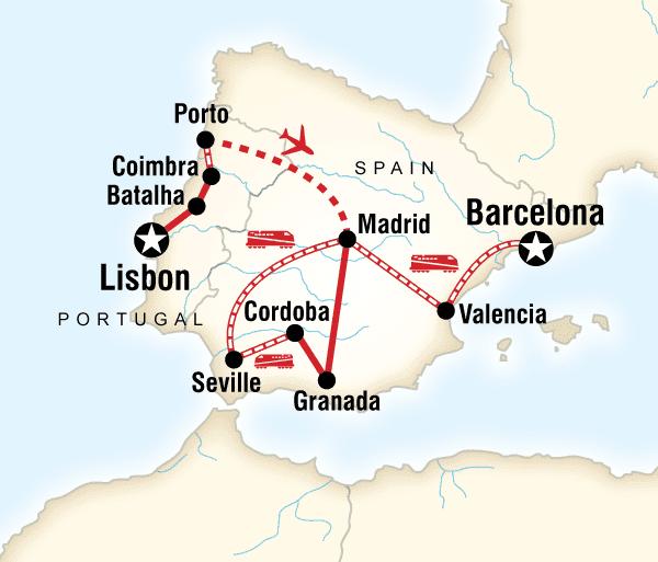 Algarve Barcelona Best of Spain & Portugal Trip