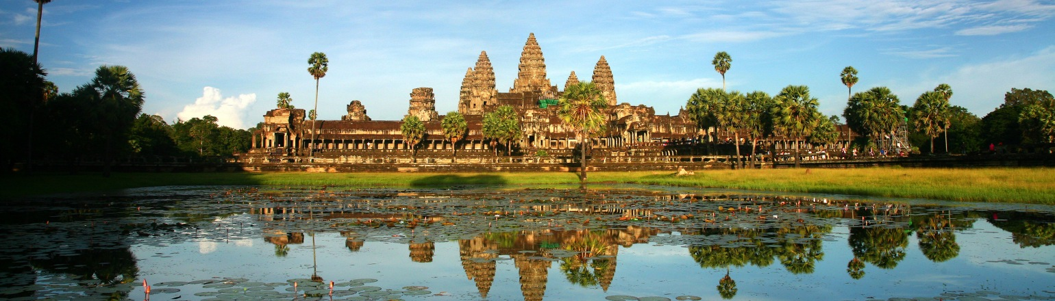 The temple complex at Angkor Wat, top Cambodia attraction