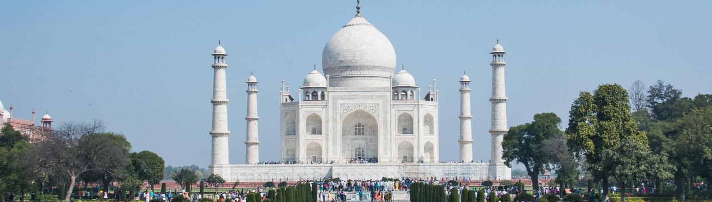 Touring the Taj Mahal in India