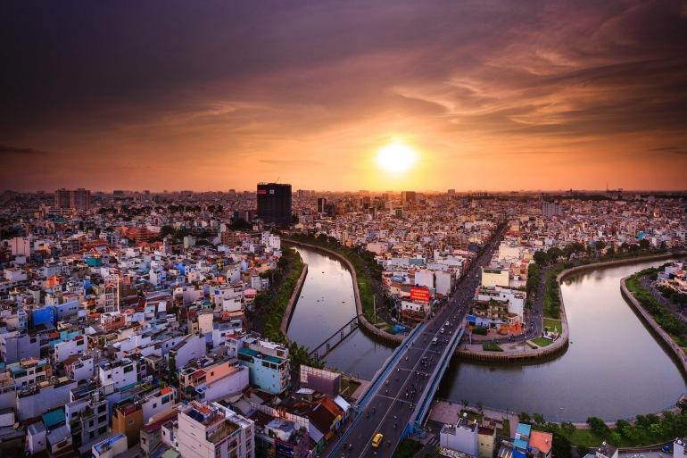 Beautiful view of ho chi minh, Vietnam