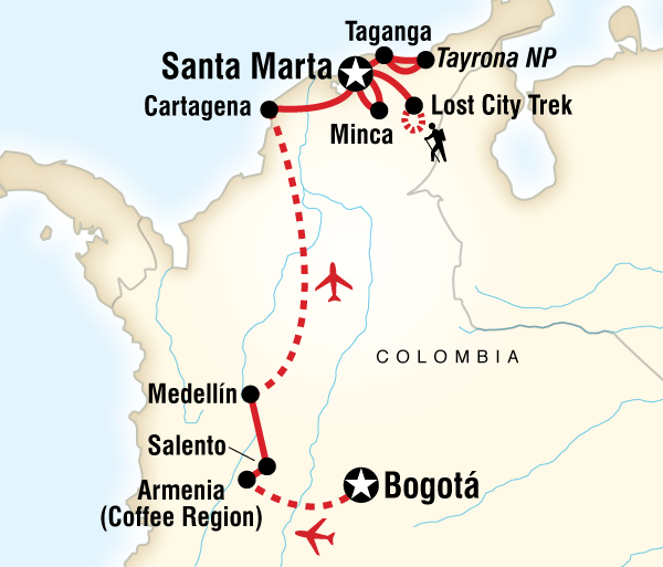 Caribbean Cartagena Colombian Culture, Caribbean & Lost City Trip