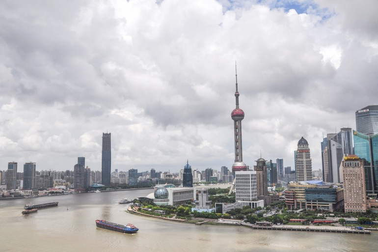 The scenery of Shanghai, Asia