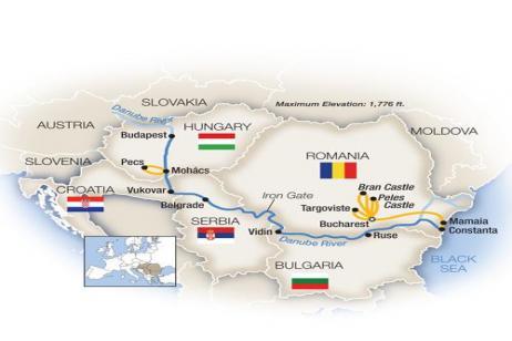 The Black Sea to Budapest - Westbound 2018 tour