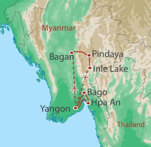 Hiking & Walking Hiking Myanmar Adventure package