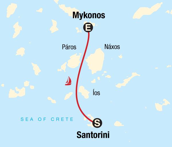 Mykonos Santorini Sailing Greece - Santorini to Mykonos Trip