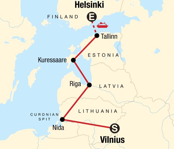 Helsinki Paris Baltic Adventure Trip