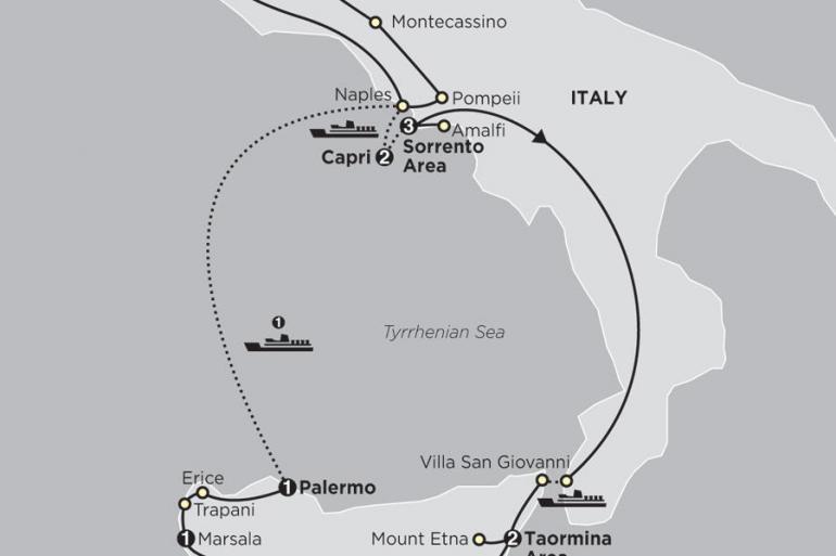 Agrigento Amalfi Coast Rome, Sorrento & Capri with Sicily Trip