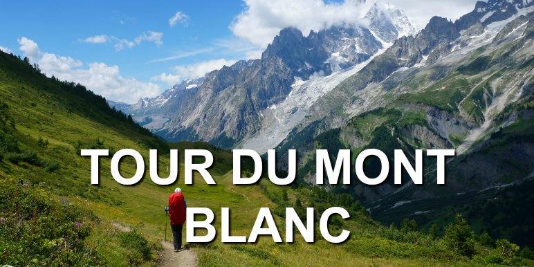 Hiker on the way to Mont Blanc, Switzerland