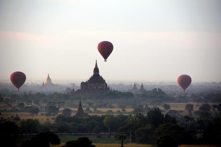 Hot air balloon ride in Bagan, Burma