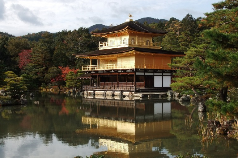Japanese Ancient temple in Kyoto, Japan