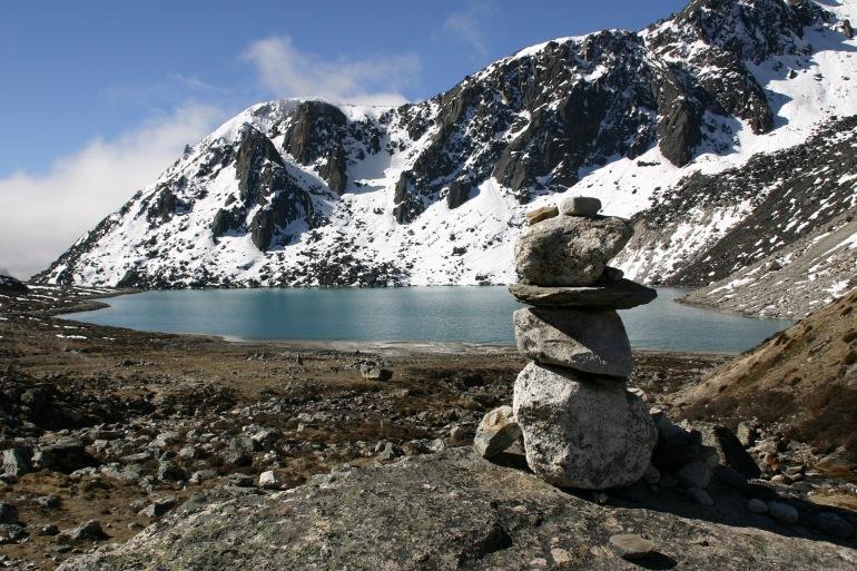 Lake and Mountain View of Khumbu, Nepal
