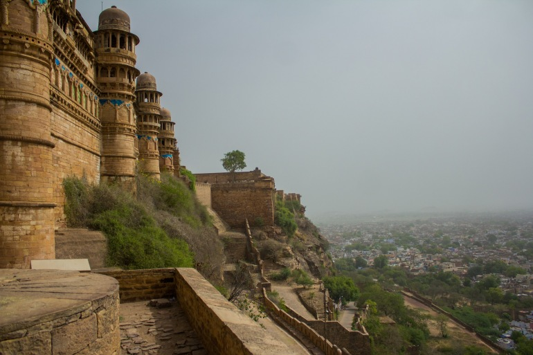 Palace View of Old Town Jaipur, India