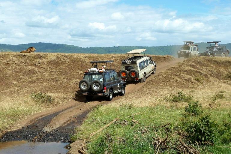 Safari View of Ngorongoro crater area, Tanzania