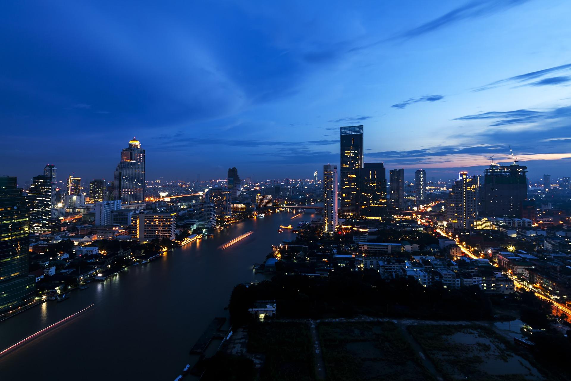 Skyscaraper View of Bangkok, Thailand