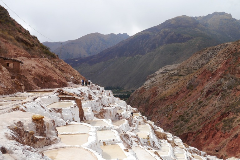 White Mineral View of Sacred Valley, Peru