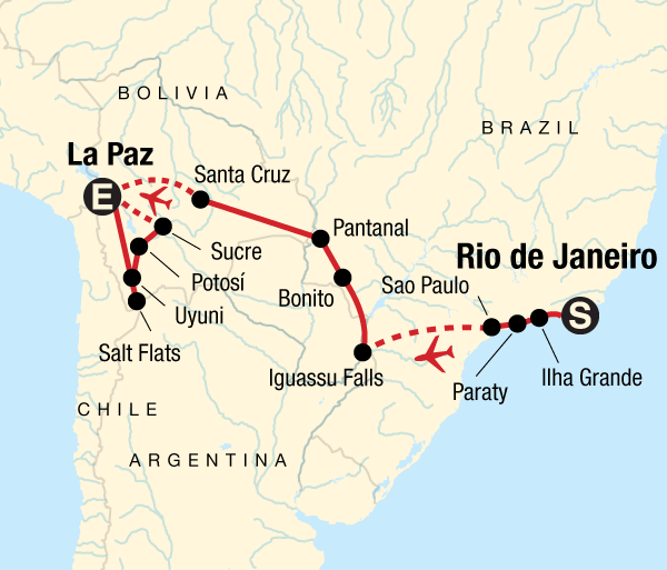 La Paz Pantanal Atlantic to the Andes Experience Trip