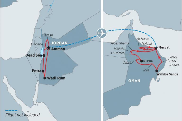 Muscat Petra Explore Jordan & Oman Trip