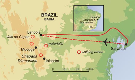 Hiking & Walking Hiking On Brazil's Diamond Trails package