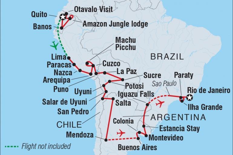 Iguazu Falls Inca Trail Ultimate South America Trip