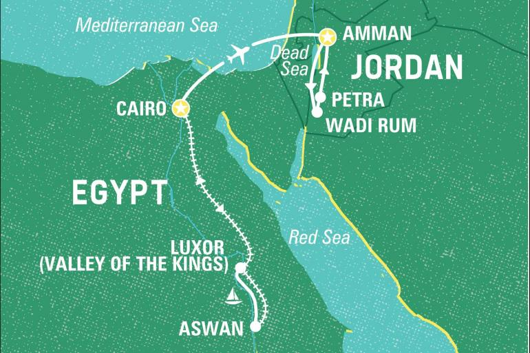 Aswan Cairo Egypt & Jordan Highlights Trip