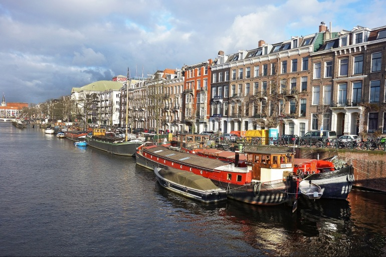 Boats near the Canal - Amsterdam-3047927-p