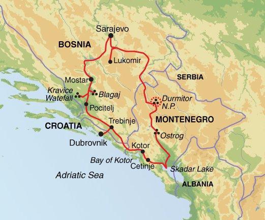 Montenegro Sarajevo Bosnia & Beyond Trip
