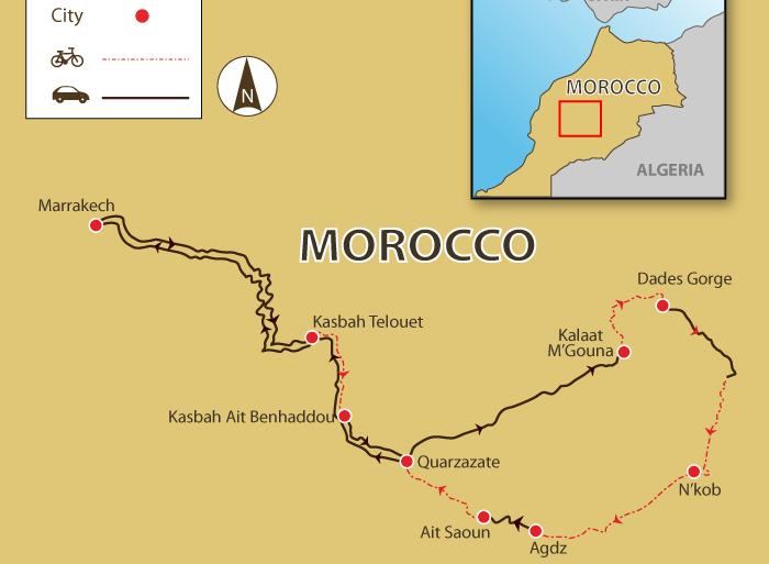Cycling Cycling Authentic Morocco by Bicycle package