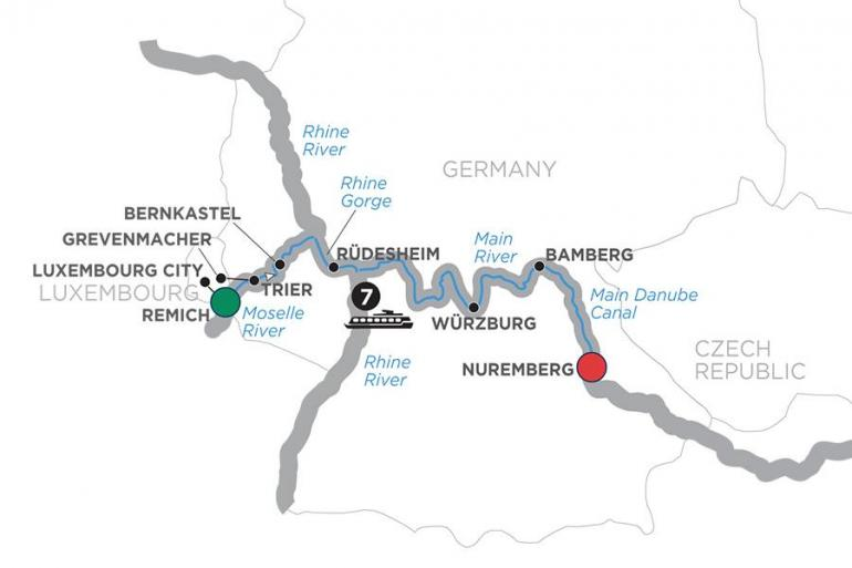 Bamberg Luxembourg Central European Experience – Cruise Only Eastbound Trip