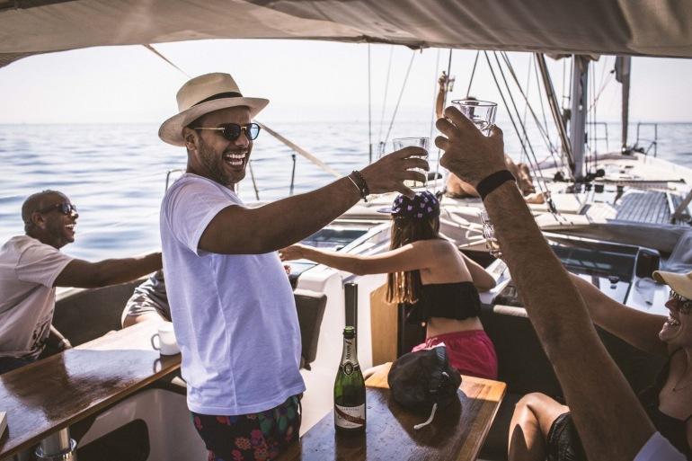 Sailing in adriatic sea