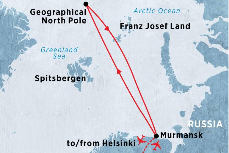 Nature & Wildlife Wildlife viewing North Pole: Journey to the Top of the World  package