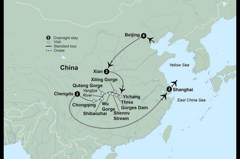 Chongqing Shanghai Wonders of China & the Yangtze River  Trip