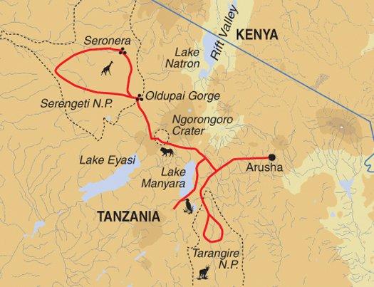 Arusha Ngorongoro Crater Classic Tanzania Safari Trip
