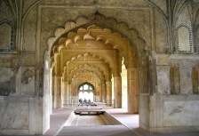 Traditional architecture at the Red Fort in Delhi