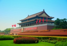 Touring Tiananmen Square in China