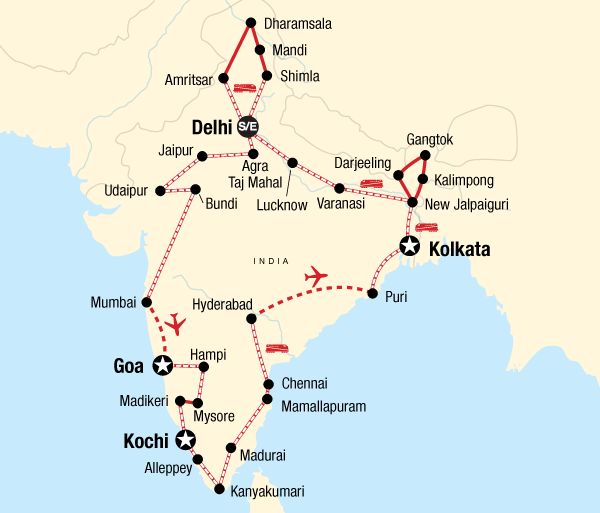Agra Agra Fort Indian Odyssey by Rail Trip