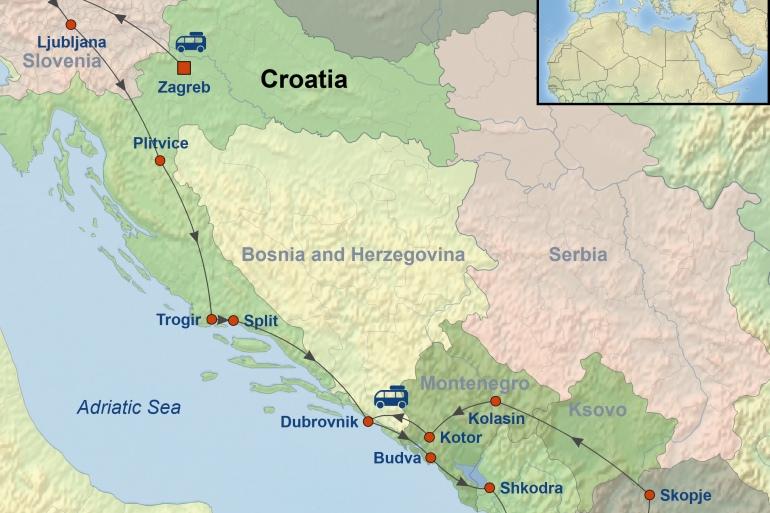 Dubrovnik Ljubljana The Grand Balkan Trip