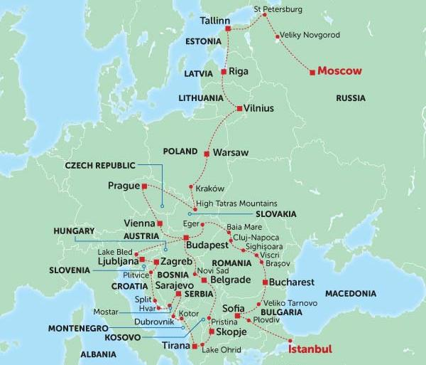 Adventure Culture Eastern Europe Discovery package