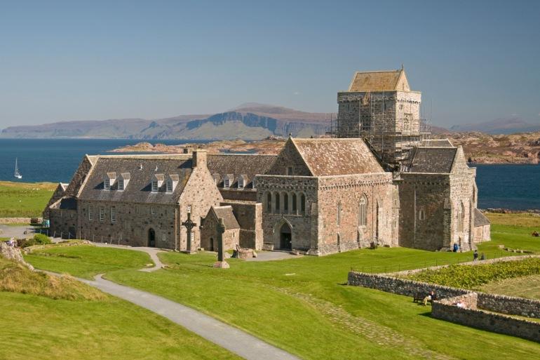 Iona Abbey and Nunnery, Isle of Iona, West coast of Scotland