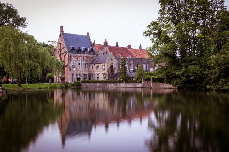 Romantic city Bruges, Belgium