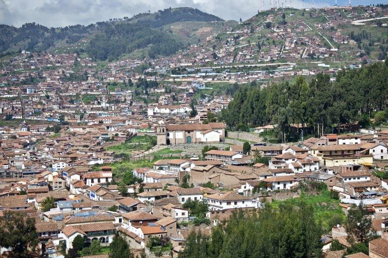 Top View of Cusco City, Peru