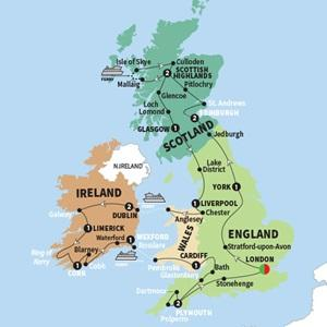 Cardiff Dublin Britain and Ireland Panorama Trip