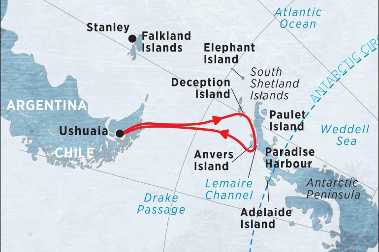 Cultural Culture Antarctic Explorer from Ushuaia 10 day package