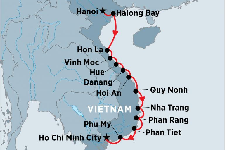 Cultural Culture Cruising the Coast of Vietnam: North to South package