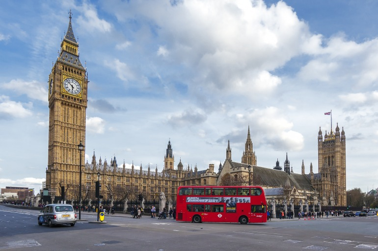 London Bus near london tower, England